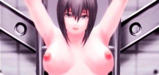 機械達に陵辱人体実験される少女のエロアニメ画像