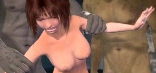 モンスターに4Pレイプされる美少女のエロアニメ画像