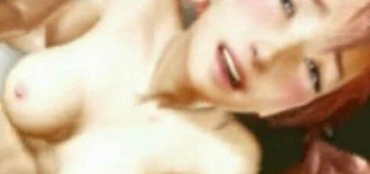 隠語連発のFFセラと半脱ぎセックスするエロアニメ画像