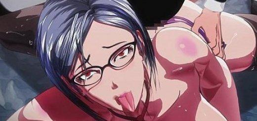 めがね淫乱副会長のエロアニメ画像