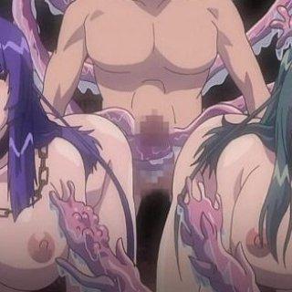 触手に陵辱される美少女エロアニメ画像