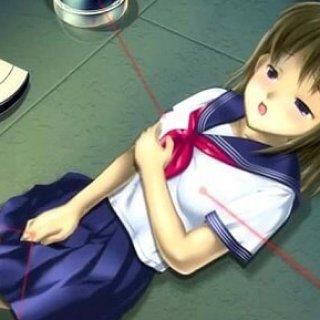 セーラー服のオナニー少女のエロアニメ画像