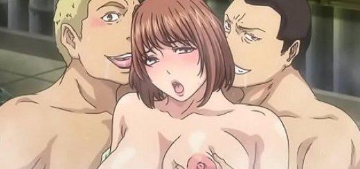 肉便器になる巨乳妻のエロアニメ画像