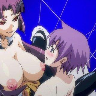 妖女とおねショタ!エロアニメ画像